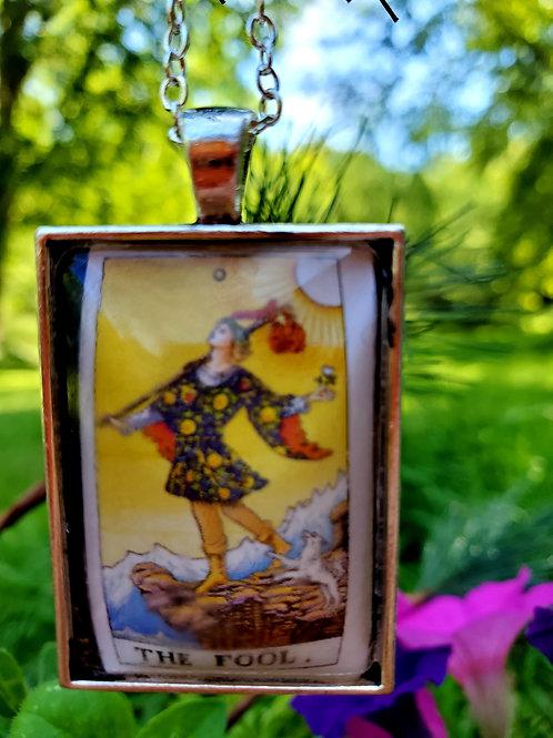 Real Tarot Card Necklace  ( Fool )