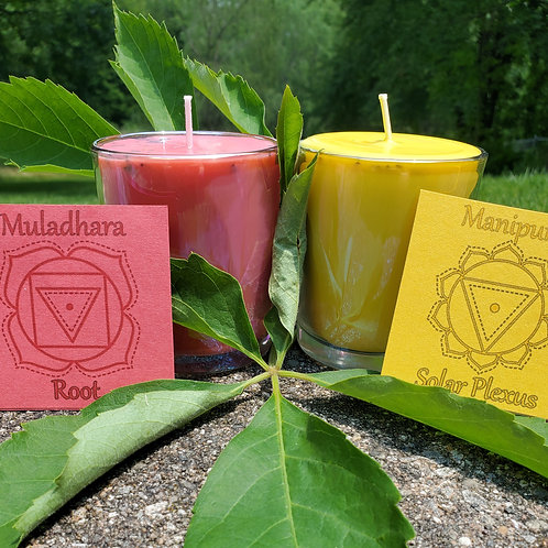 8 oz Jar Soy Chakra Candles Crown