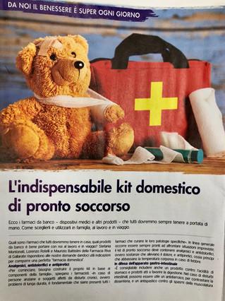 Si parla di noi...alcuni nostri consigli per il kit domestico di pronto soccorso!