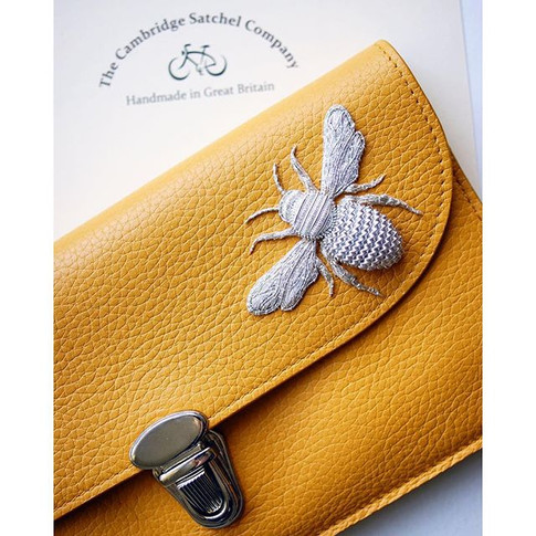 Precious metals - Commission piece I designed and created for a special client - my hand crafted silver bee embroidered with metal threads o