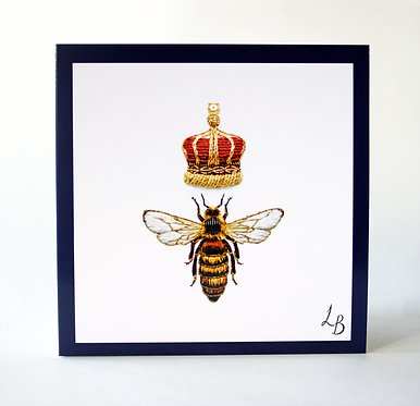 Queen Honey Bee Card