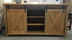 Barn Door TV Stand