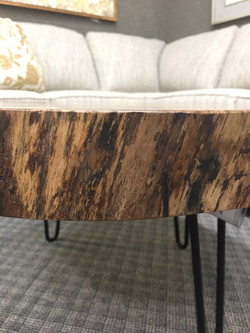 Spalted Sycamore Coffee Table Detail