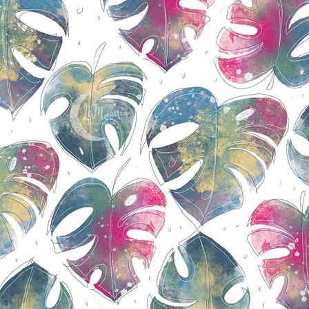 Monstera leaf pattern