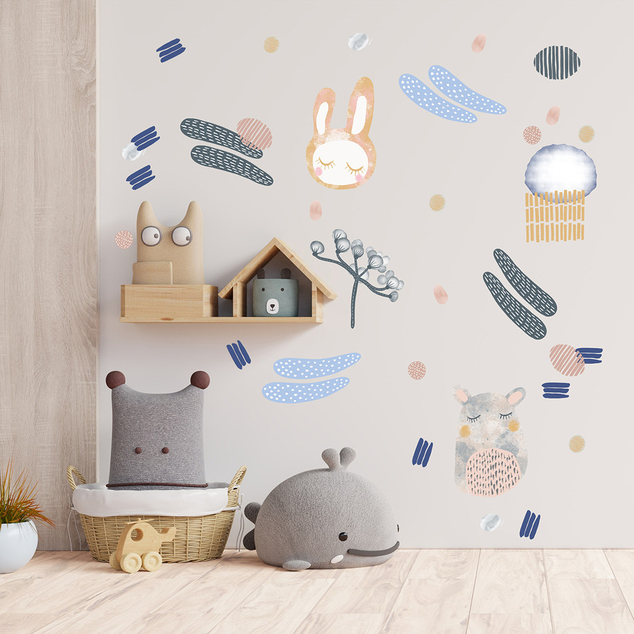 Cotton Candy Wall Decal Set