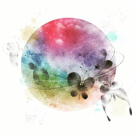 Rainbow Glass Butterfly Moon #1