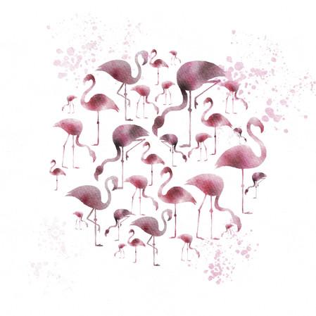 Pink Flamingo Moon #2
