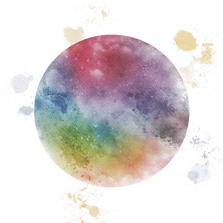 Rainbow Glass Butterfly Moon #3