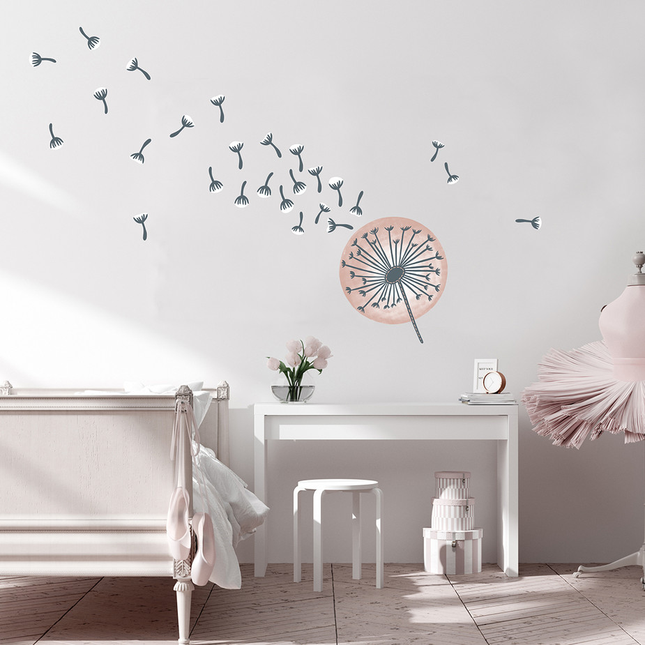 Dandelion Fabric Wall Decal Set
