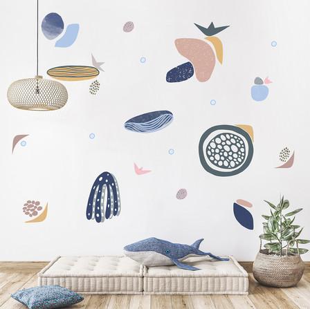 Sea Shapes - Octopus - Wall Decal Set