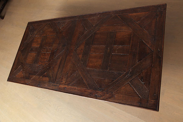 18th Century French Wood Parquet Coffee