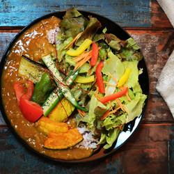 彩り夏野菜のキーマカレー