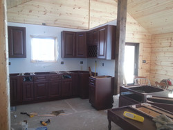 Cabinets up!