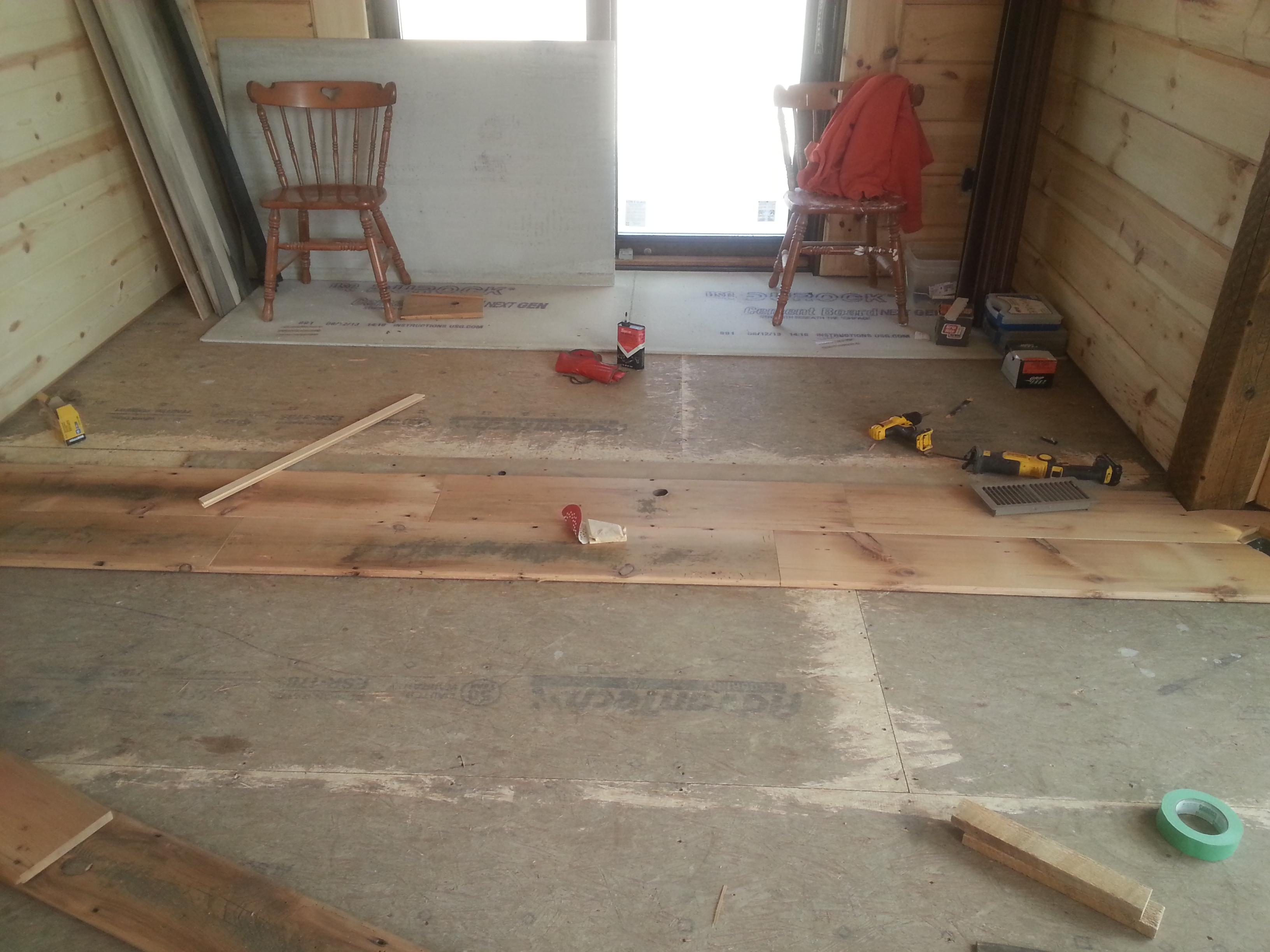 Reclaimed Barnwood Floor