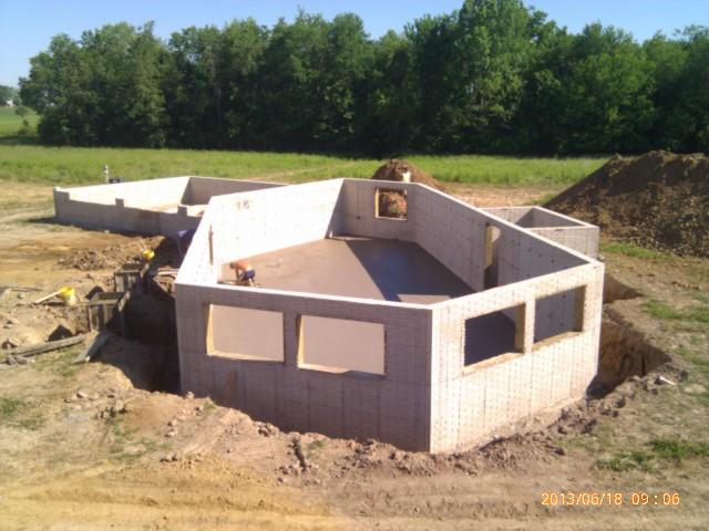 Concrete work done