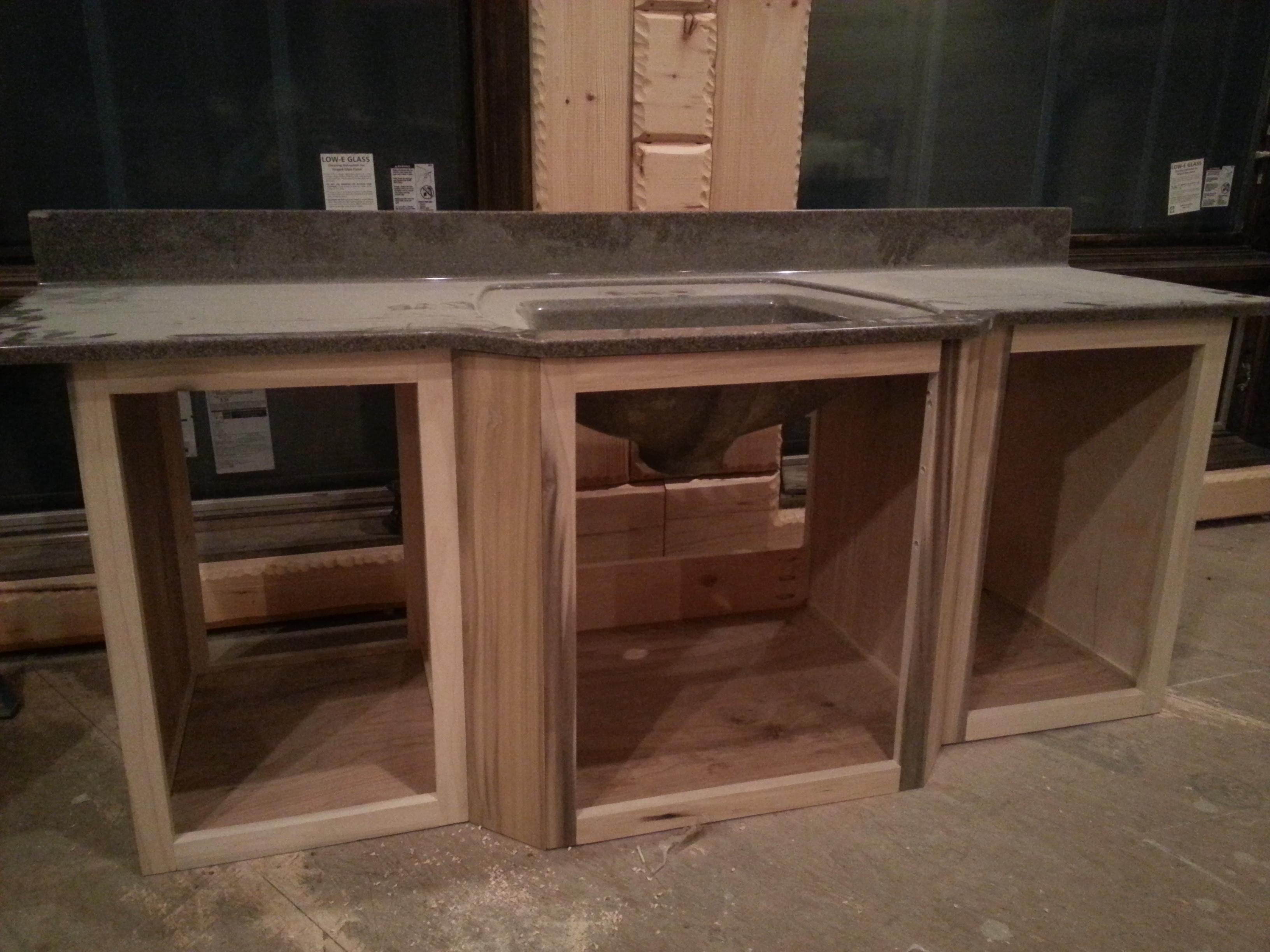 Beginning of Vanity build