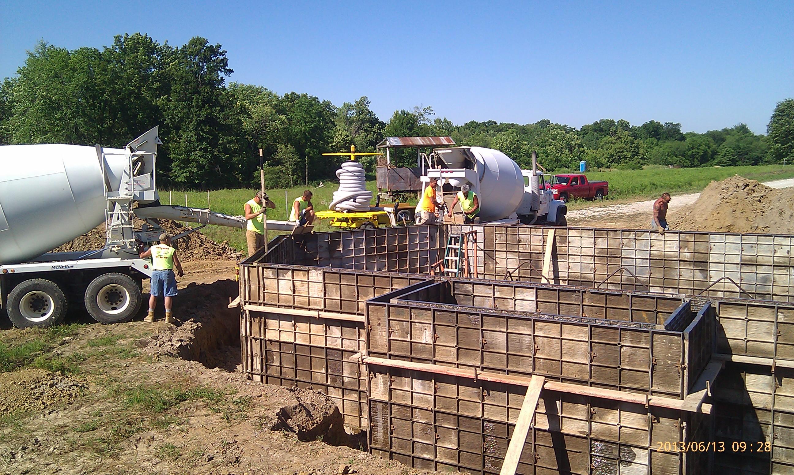 Concrete coming!