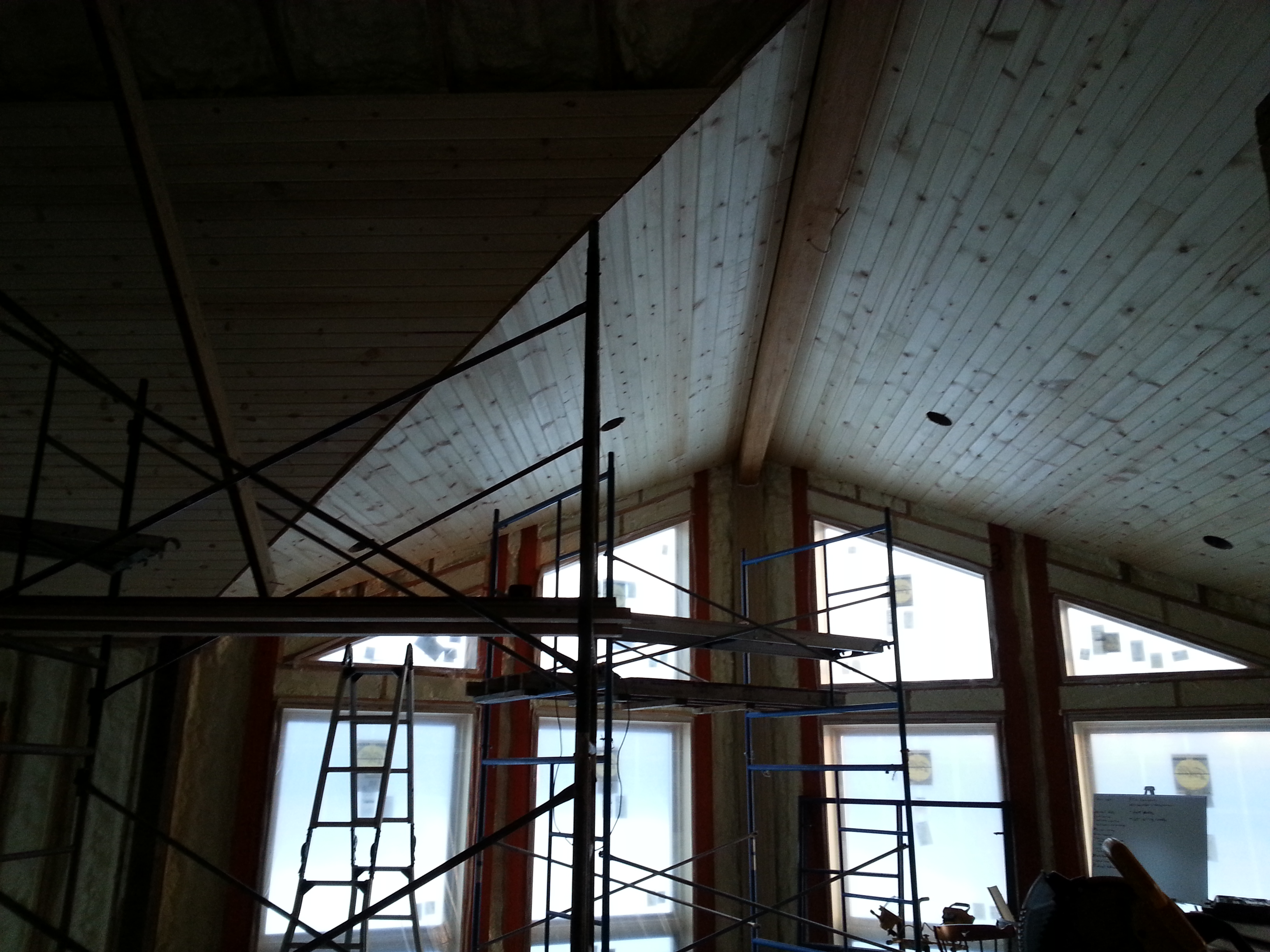 Finishing Knotty Pine Ceiling