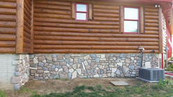 Log Home Cabin Cultured Stone Veneer