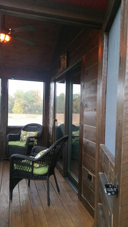 Log Home Cabin Porch