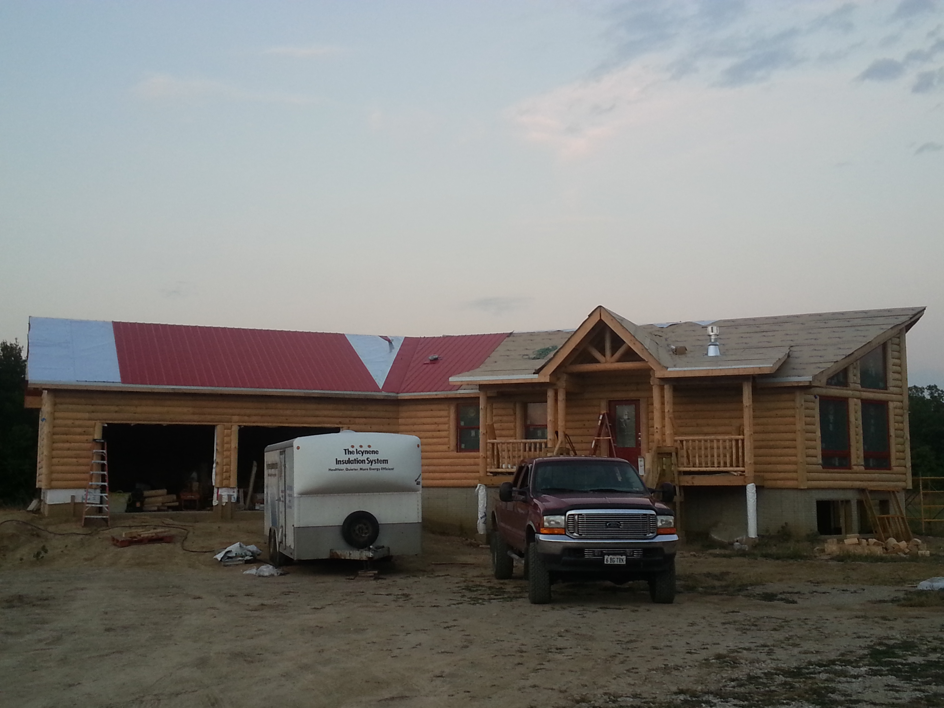 Roof and Insulation started
