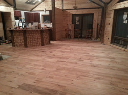 Barnwood Floor and Island Finished
