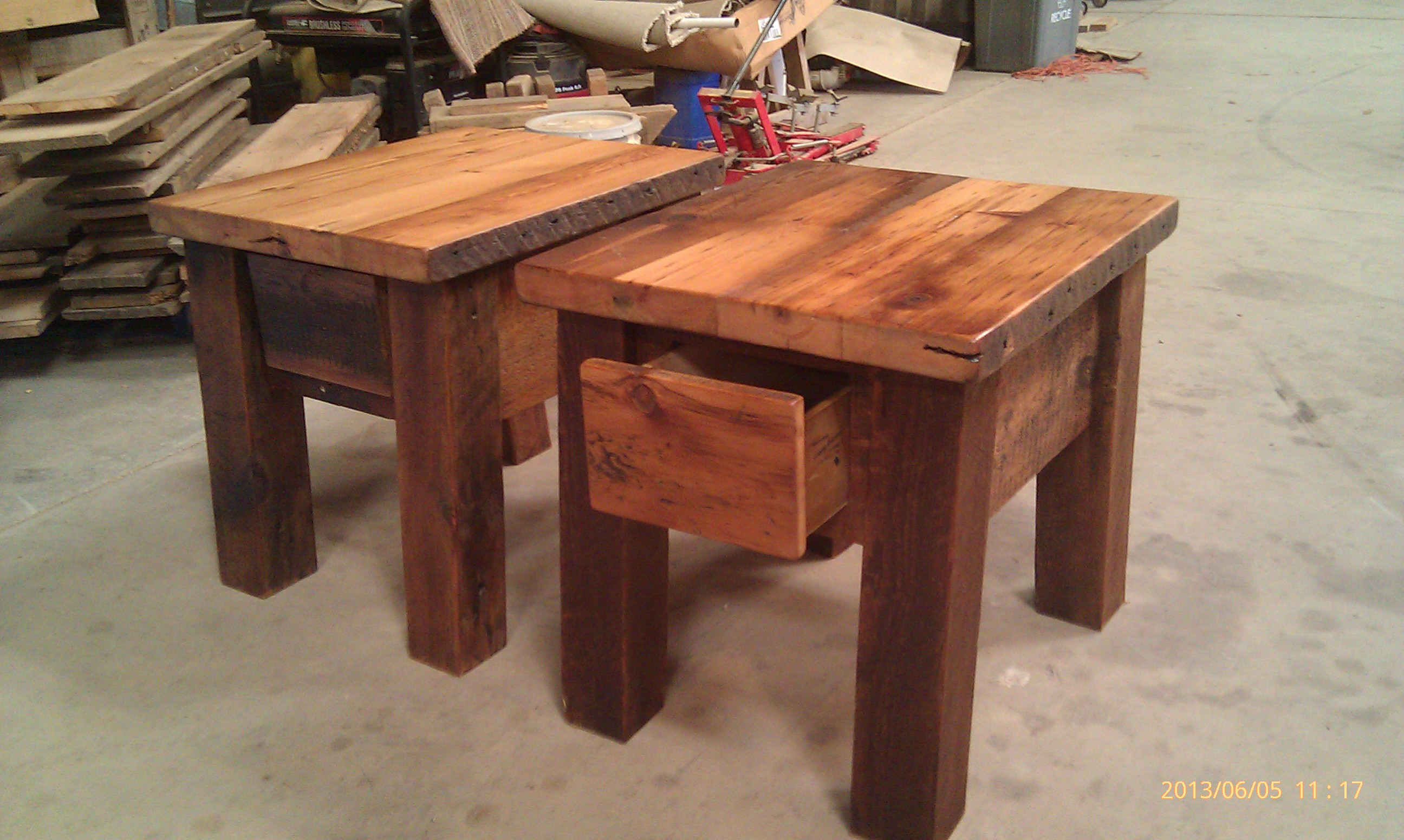 Barnwood End Tables