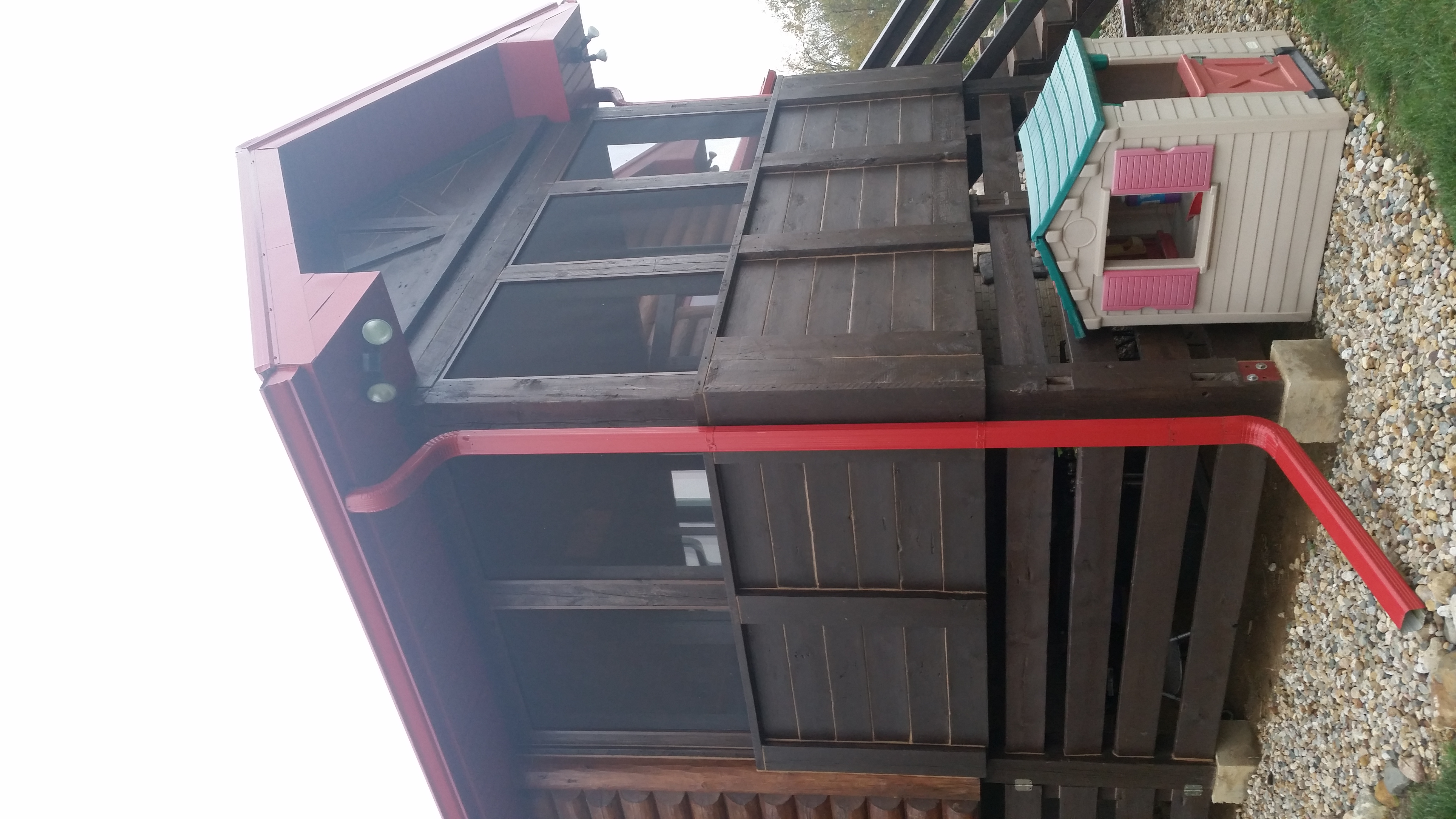 Log Home Cabin Reclaimed Barn wood Porch 2