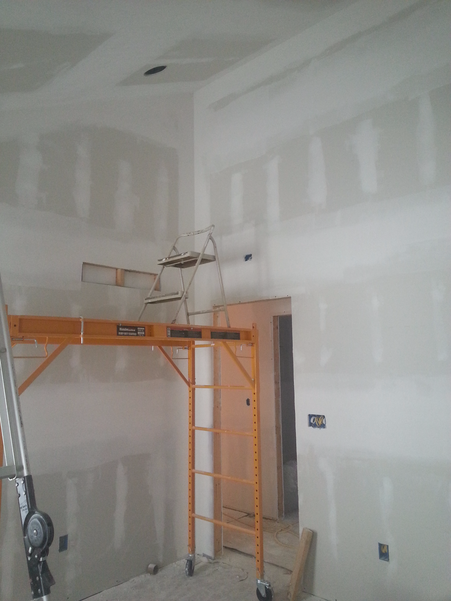 Dry-wall in the master bedroom