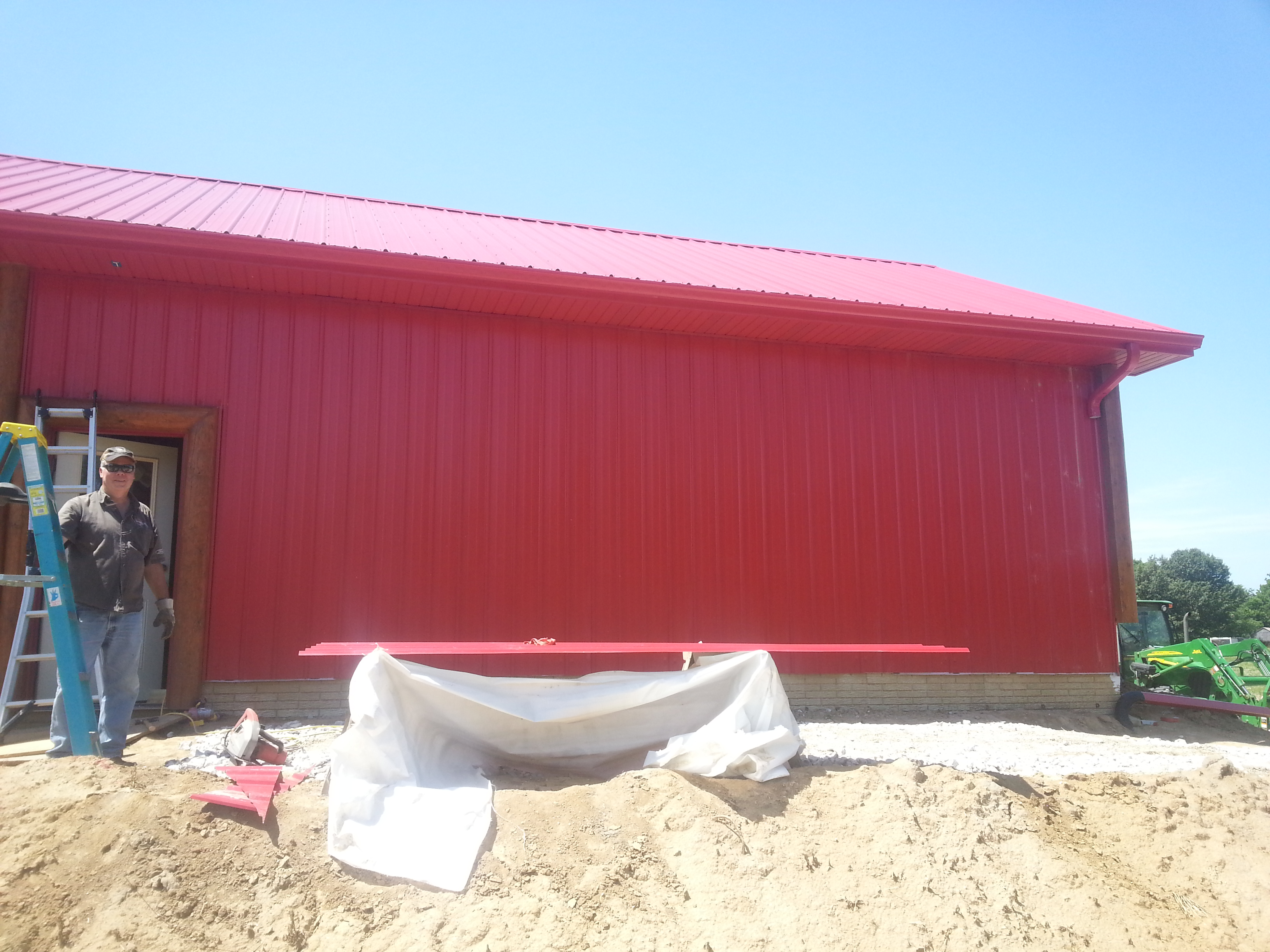 Roof Match Red Metal Siding