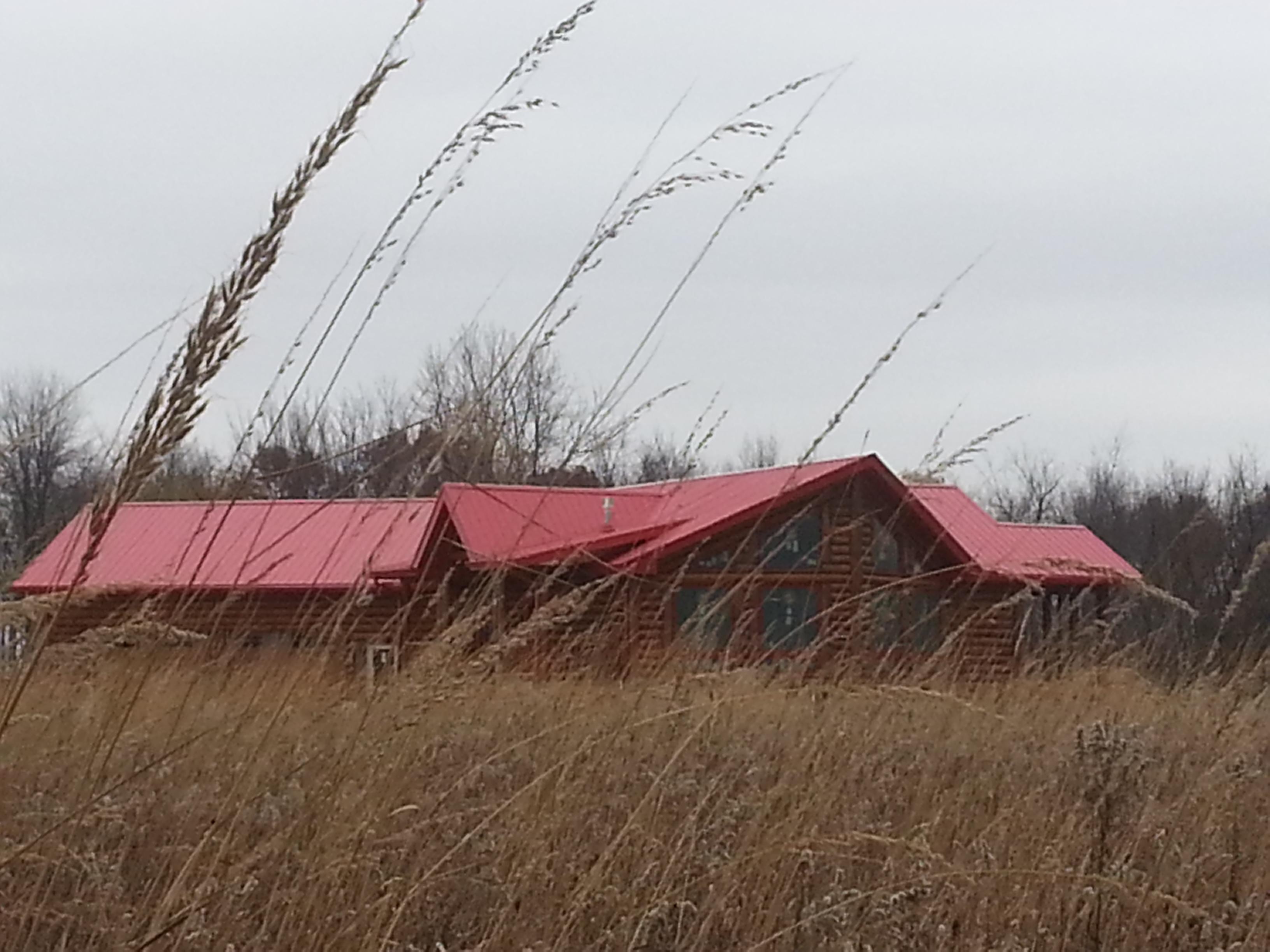 Log Home in the Prairie
