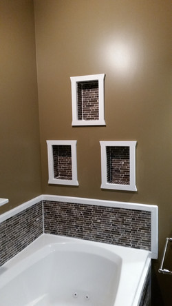Master Bathroom cubbies