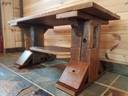 Rustic Barn Wood Bench coffee table 2