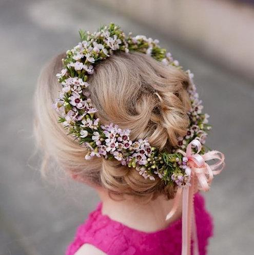 Corona floral para ceremonia