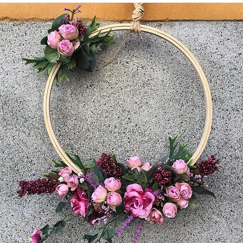 Bastidor decorado con flores