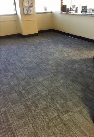 Carpet Tile & Rubber Cove Base