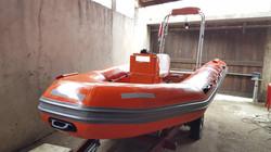 Repair rescue boat