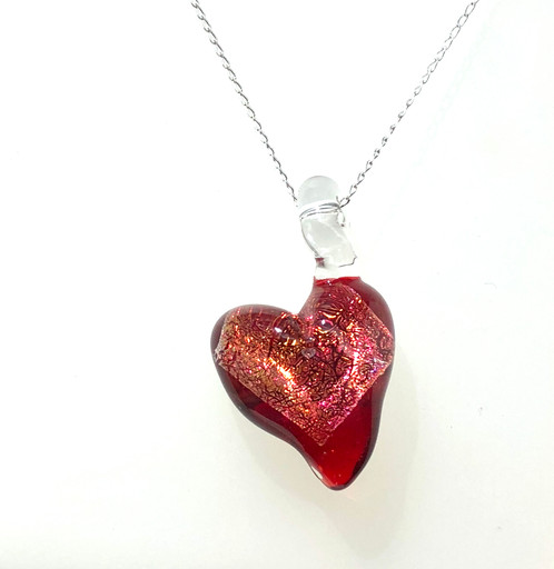 ebay bhp heart pendant red ruby