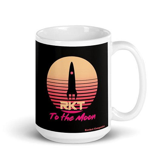 RKT 80's White glossy mug