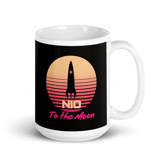 NIO 80's White glossy mug