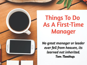 The First-Time Manager To-Do List