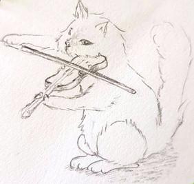 Cat and Violin