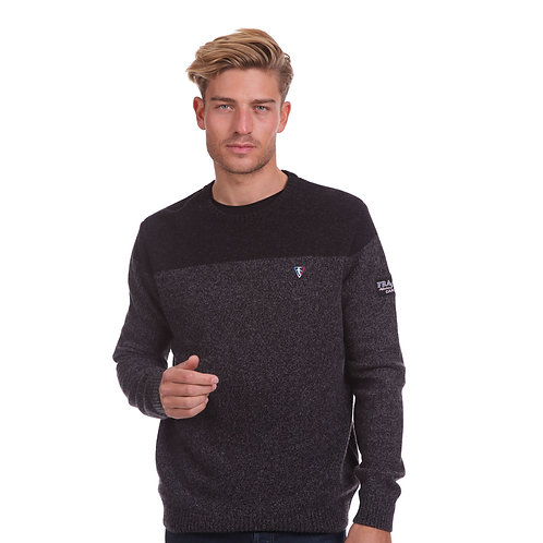 Pull col  rond coton laine NZ HERITAGE 45207
