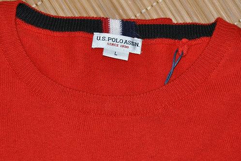 Institutional knit pull coton/cashmire