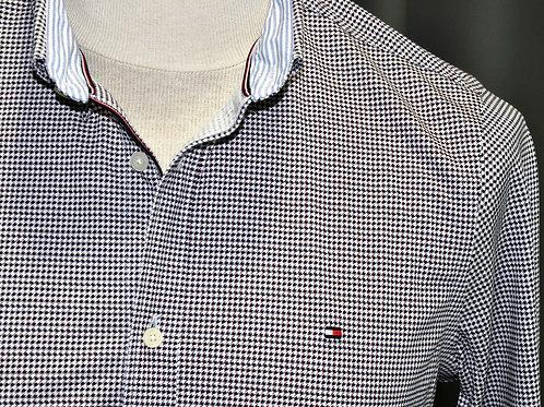 SLIM FLEX WEAVE SHIRT chemise slim petit pied de poule MW150080KP