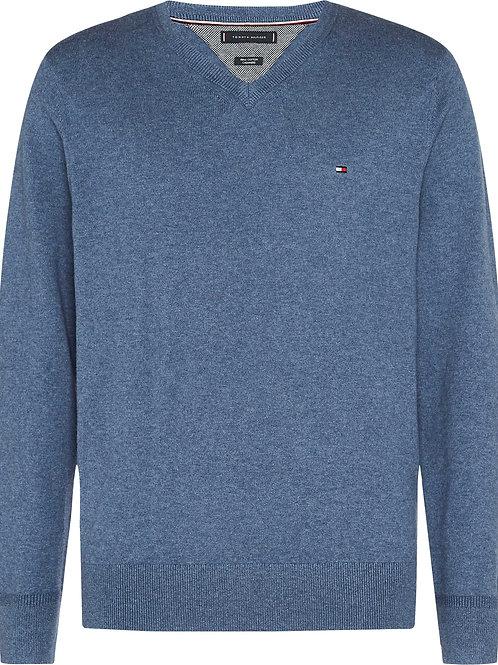 Pull V coton cashmire TH MW 11673
