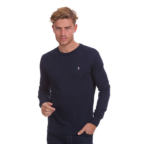 Pull col  rond coton laine  HERITAGE 45700