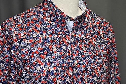 SLIM TEXTURED FLORAL SHIRT chemise slim fleurie MW150510KP