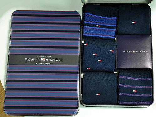 Coffret 5 paires de chaussettes  T HILFIGER 40352 à 40355