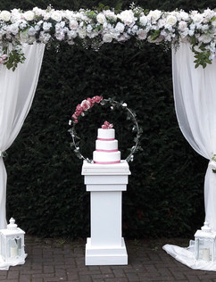 Cake hoop and Isabella arch